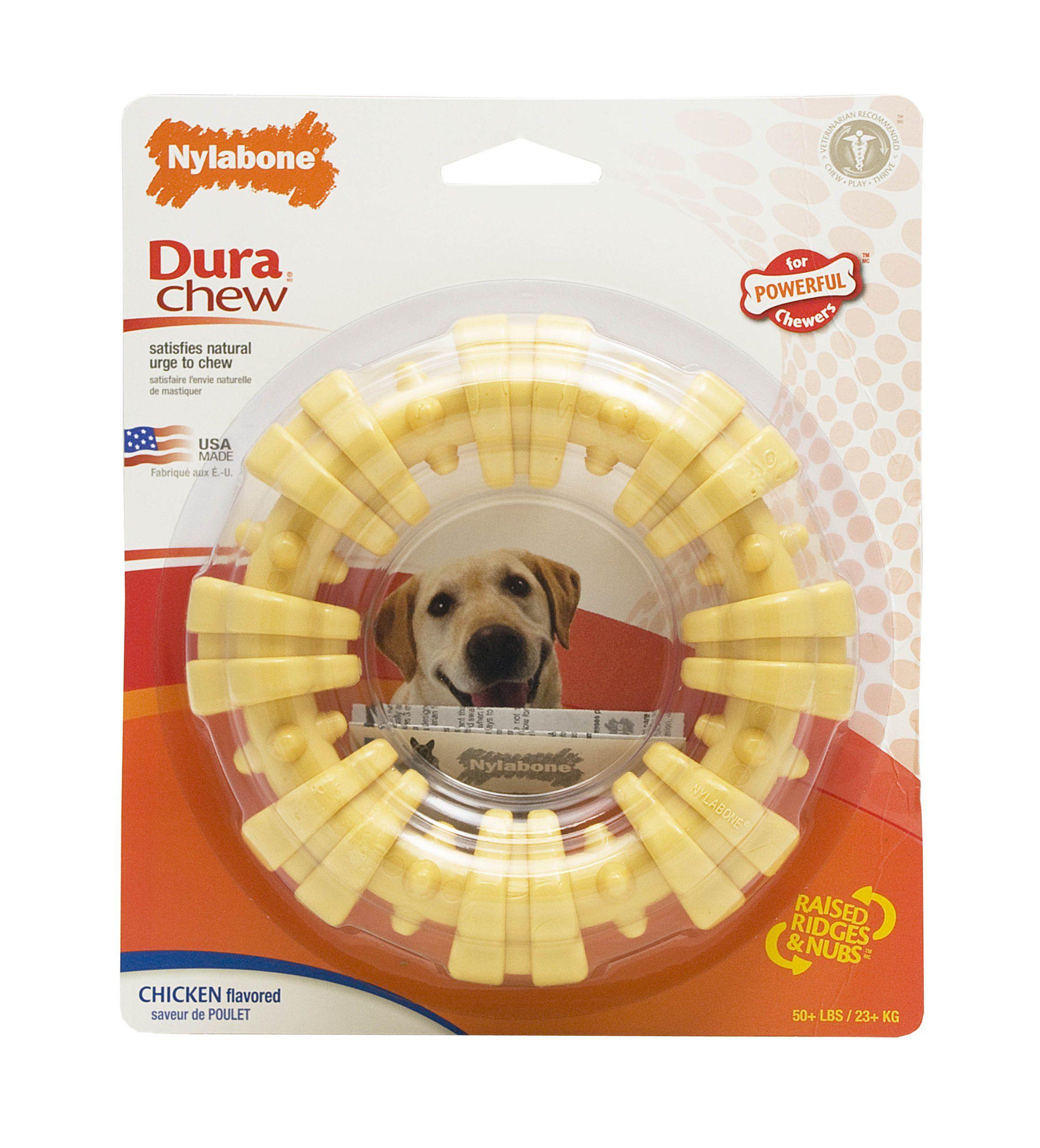 Amazon Com Nylabone Dura Chew Large Textured Ring Bone Dog Chew
