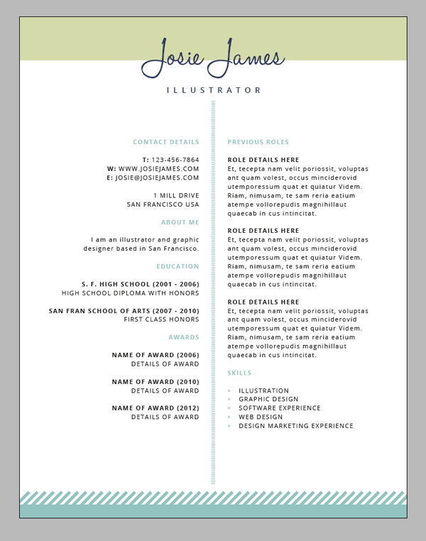 create a branded resumé letterhead and business card in adobe