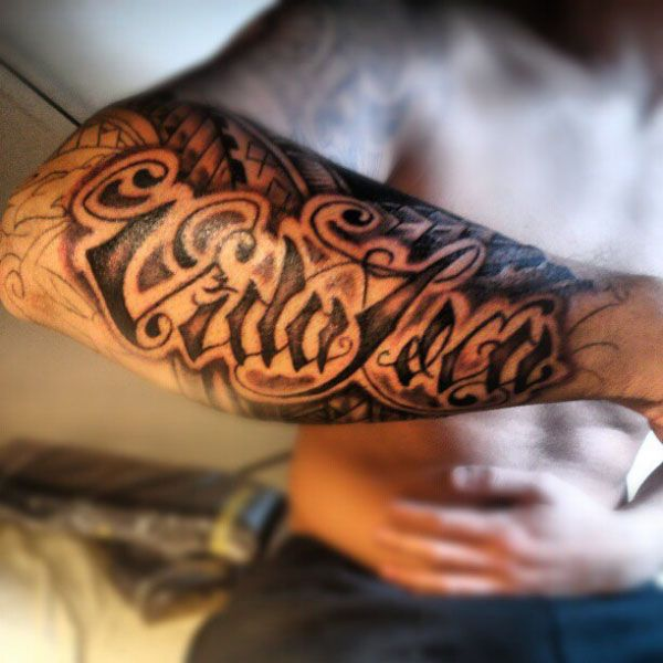 Avant Bras Phrase Tribal Tatouage Tattoos Forearm Tattoos Et