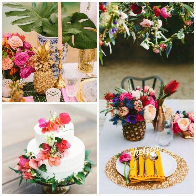 Idées déco pour un mariage tropical le blog de modern confetti