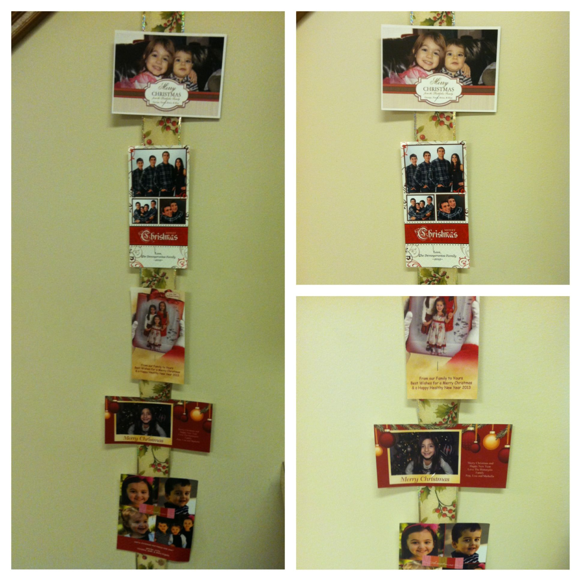 Holiday DIY: What to do with photo Christmas cards? Staple them to ...