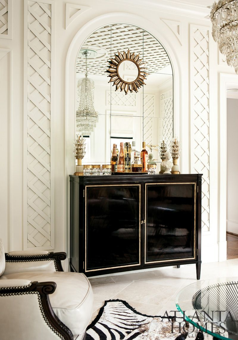 Interiors: Southern Charm Meets Modern Glamour | Lattice wall ...