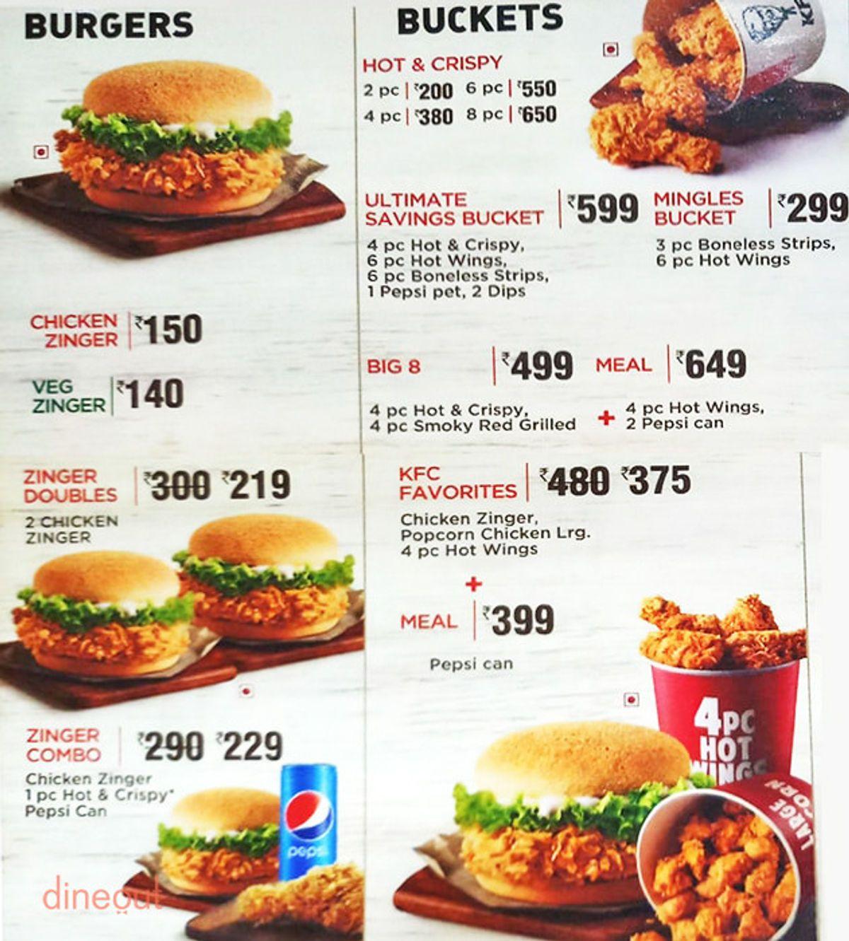 Kfc Menu Buckets Prices In 2020 B Food Kentucky Fried Chicken Menu Kfc