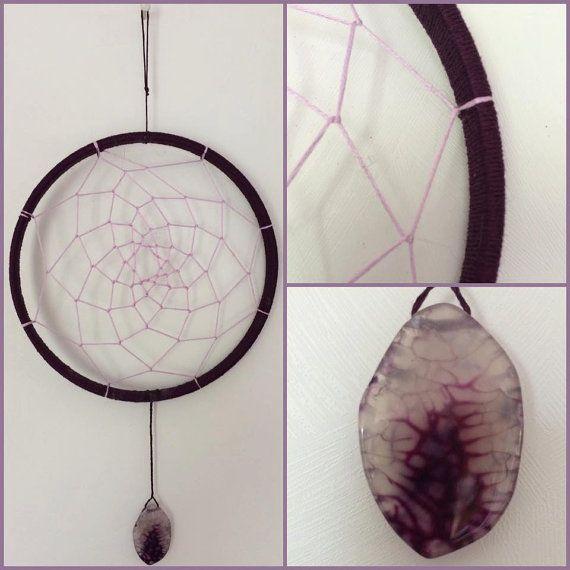Dark Purple and Light Purple Dream Catcher by TheFriskyOtter