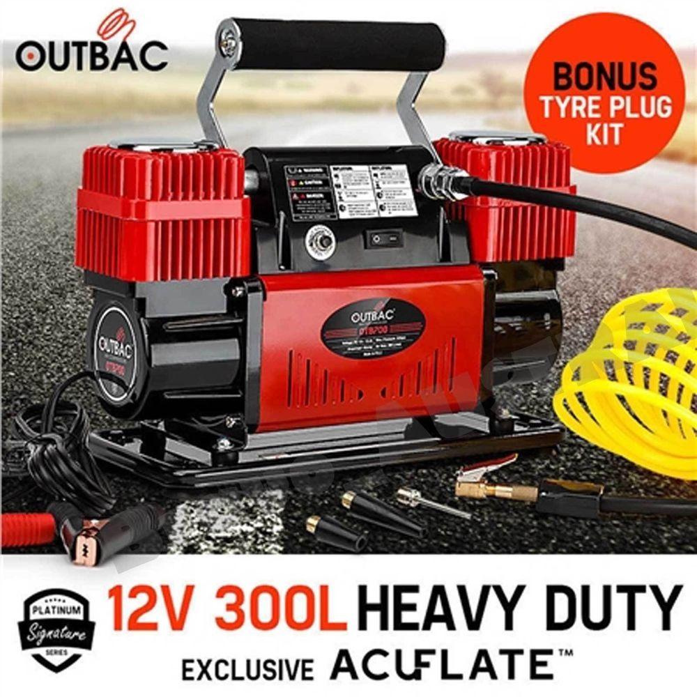Outbac Air Compressor 12v 300L 4x4 Portable Car Compressor
