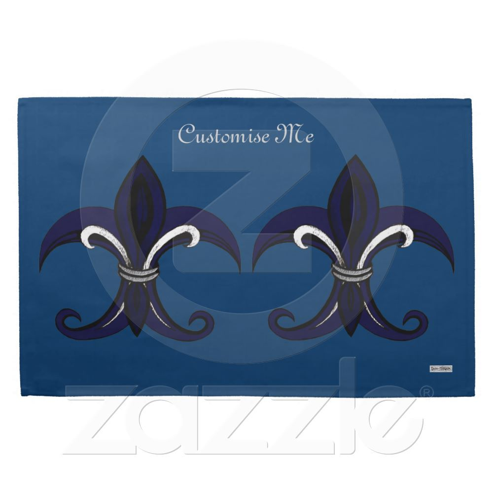 Fleur de lis blue/silver kitchen towels The Fleur-de-lis is a ...
