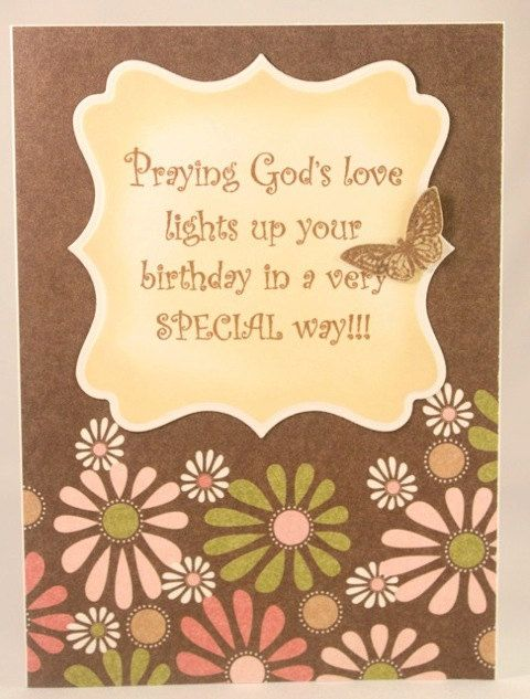 Handmade Christian Birthday Card For Women Or Girls See More Photos At