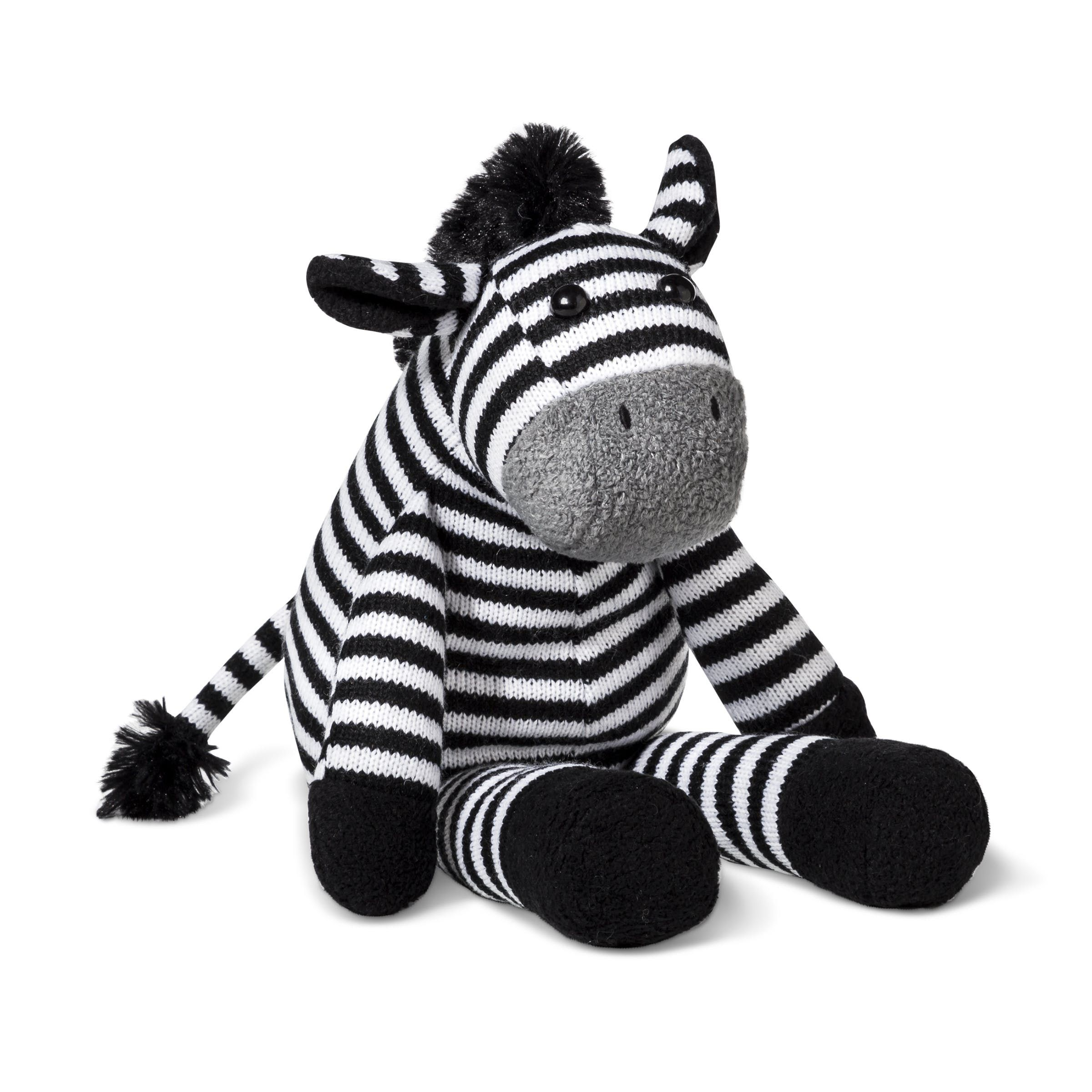 Cloud Island Plush Zebra, $14.99
