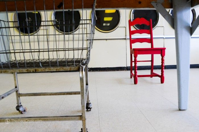 The Red Chair | Coin Laundry  Wake Forest NC