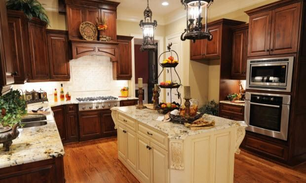 Two tone kitchen | For the Home | Pinterest