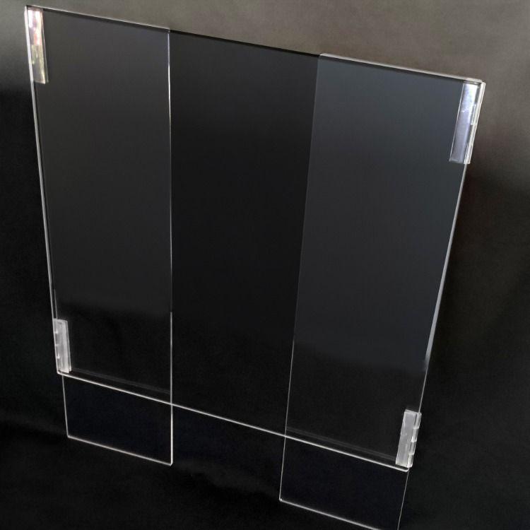 hry con Striscione Trasparente Estraibile Antispruzzo Schermo di Protezione Divisorio Sanitario Divisorio in Plastica Schermo in Plexiglass Schermo in Plexiglass Anti-starnuto