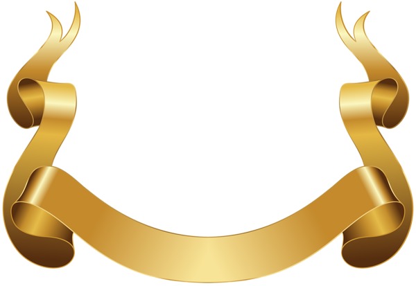 Banner Gold Decorative Clip Art Image Poster Background Design Clip Art Game Icon Design