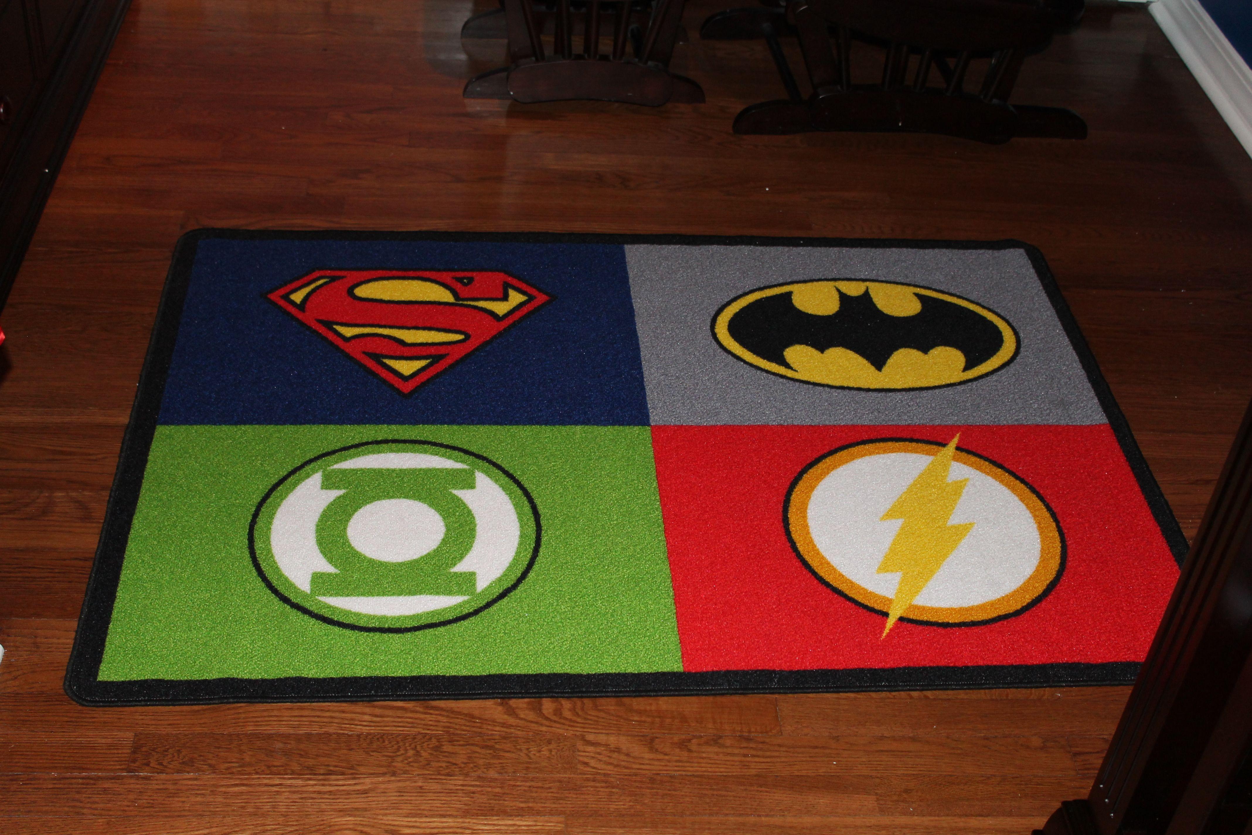 Justice League Area Rug Boy Room Kids Rugs Superman