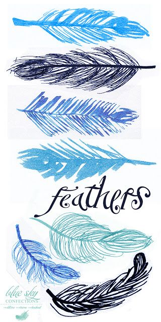Blue Sky Confections: Feather Doodles