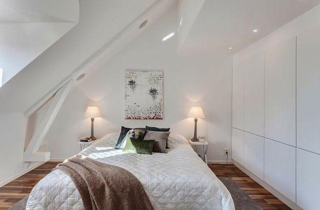 Witte Loft Stockholm : Bright white stockholm sweden attic loft bedrooms