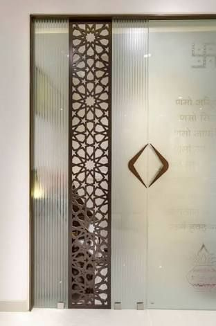 Image Result For Glass Door Designs For Pooja Room Door Glass Design Room Door Design Pooja