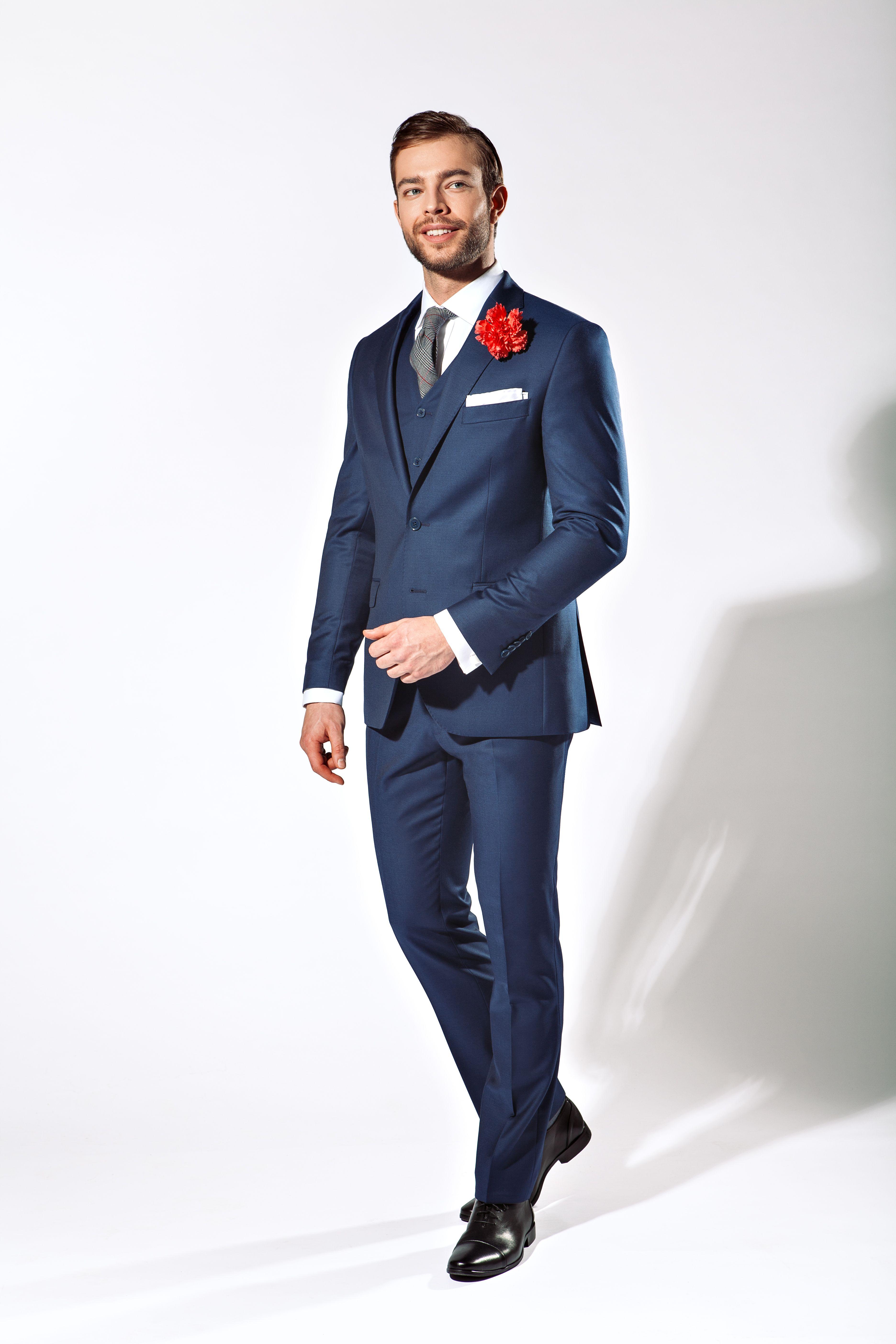 Lancerto Garnitur Business Mix Navy Fashion Style Formal