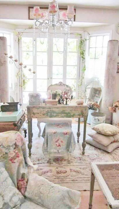 Chic And Romantic Living Room Shabby Chic Cottage Style Living Room