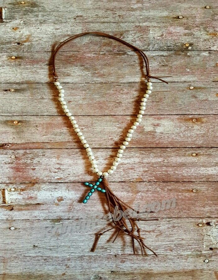 Pearl & Leather Necklace #1613