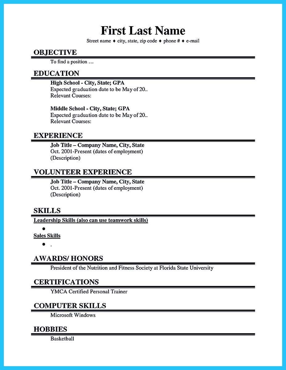 Best Current College Student Resume With No Experience Student