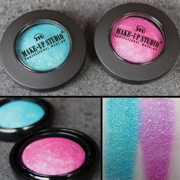 Farduri de pleoape profesionale turquoise si roz stralucitor. #FardDePleoapeTurquoise #FardDePleoapeRoz