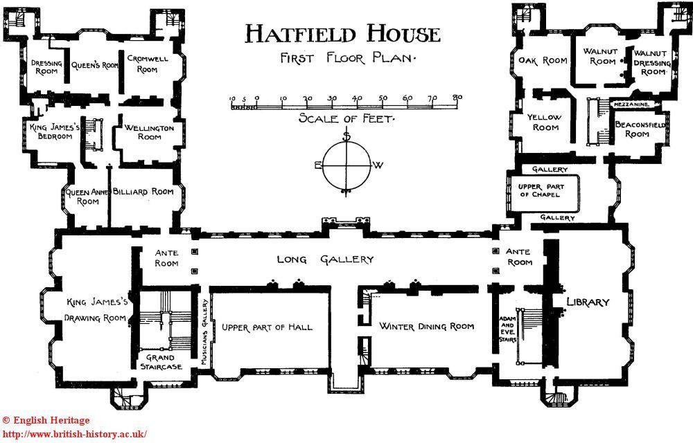 Hatfield House first floor Historical Interiors – Hatfield House Floor Plan
