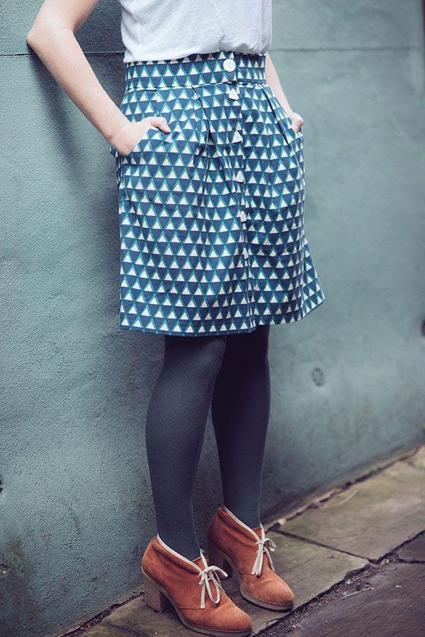 Kelly Skirt by Megan Nielson, Ellen Lucket Baker linen cotton mix