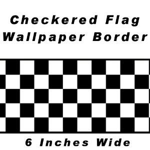 Checkered Flag Cars Nascar Wallpaper Border 6 Inch Black Edge Disney L And Stick