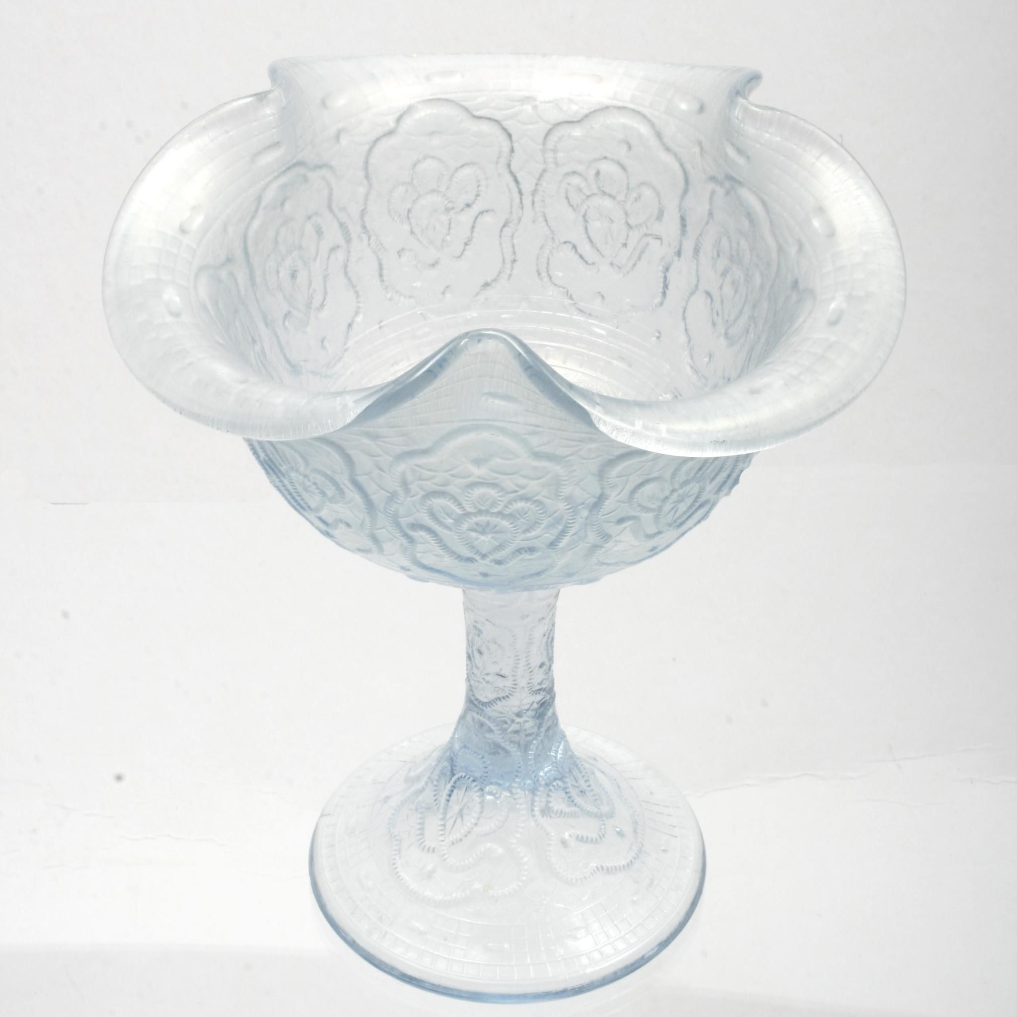 shop persian antique s w small carnival medallion compote ice white fenton glass