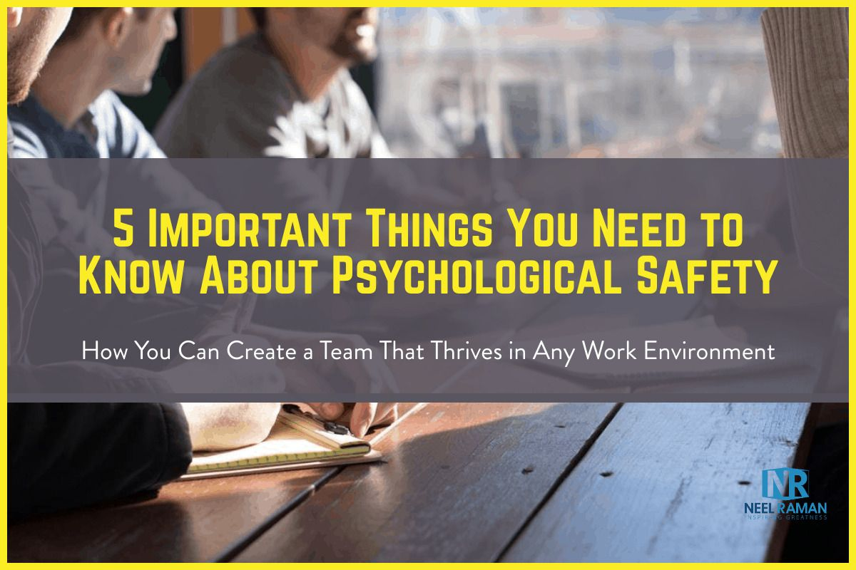 Psychological safety is about one's willingness to take