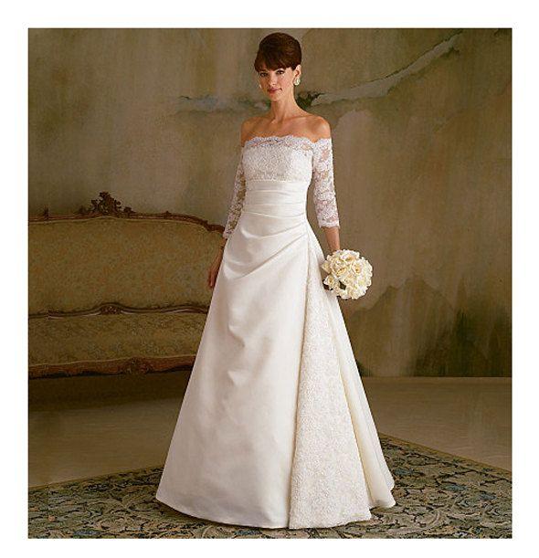 WEDDING DRESS PATTERN Off Shoulder Bridal Gown Fit & Flare Bridal ...