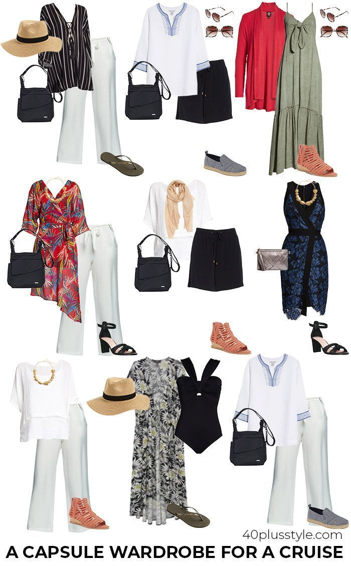 Cruise Clothing Essentials: What to Pack for a Cruise Capsule | 40plusstyle.com | summer outfits
