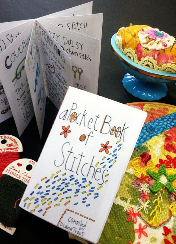 Pocket Stitch Book On Sale Now Stitch Book Embroidery Lessons Stitch