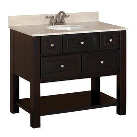Full Bath Vanity  Allen  Roth 1In Espresso Undermount 1 Magnificent Bathroom Vanities At Lowes Review