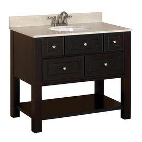 Full bath vanity | Allen + Roth 1-in Espresso Undermount 1 ...