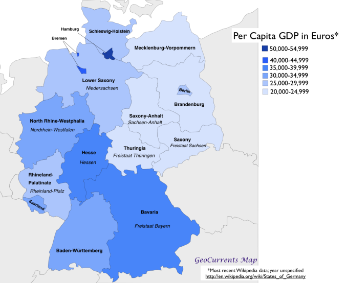 Map Of Germany With States.Germany States Map Country Europe A Map Of German States Germany