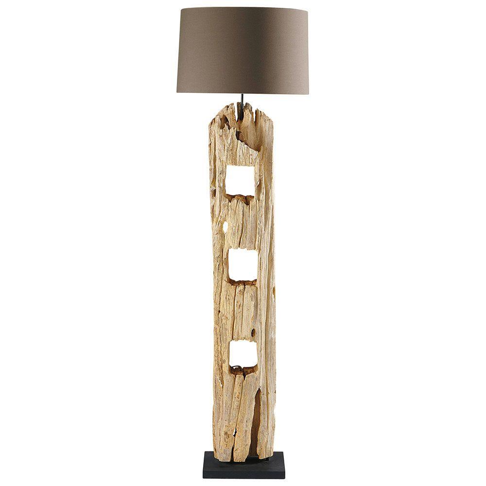 Stehlampe Aus Holz H 170 Cm Stehlampe Holz Stehlampe Und Bodenlampe