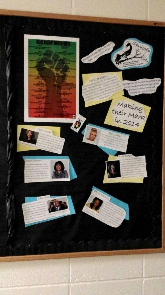 Black history month bulletin board living the ra life for Black bulletin board ideas