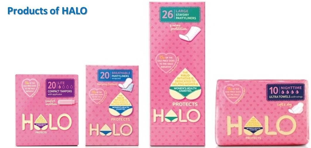 Halo Products Packging Design Vintage Packaging Sanitary