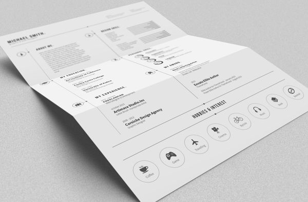 Free Simple Resume By Bro Luthfi Via Behance HttpBitLy