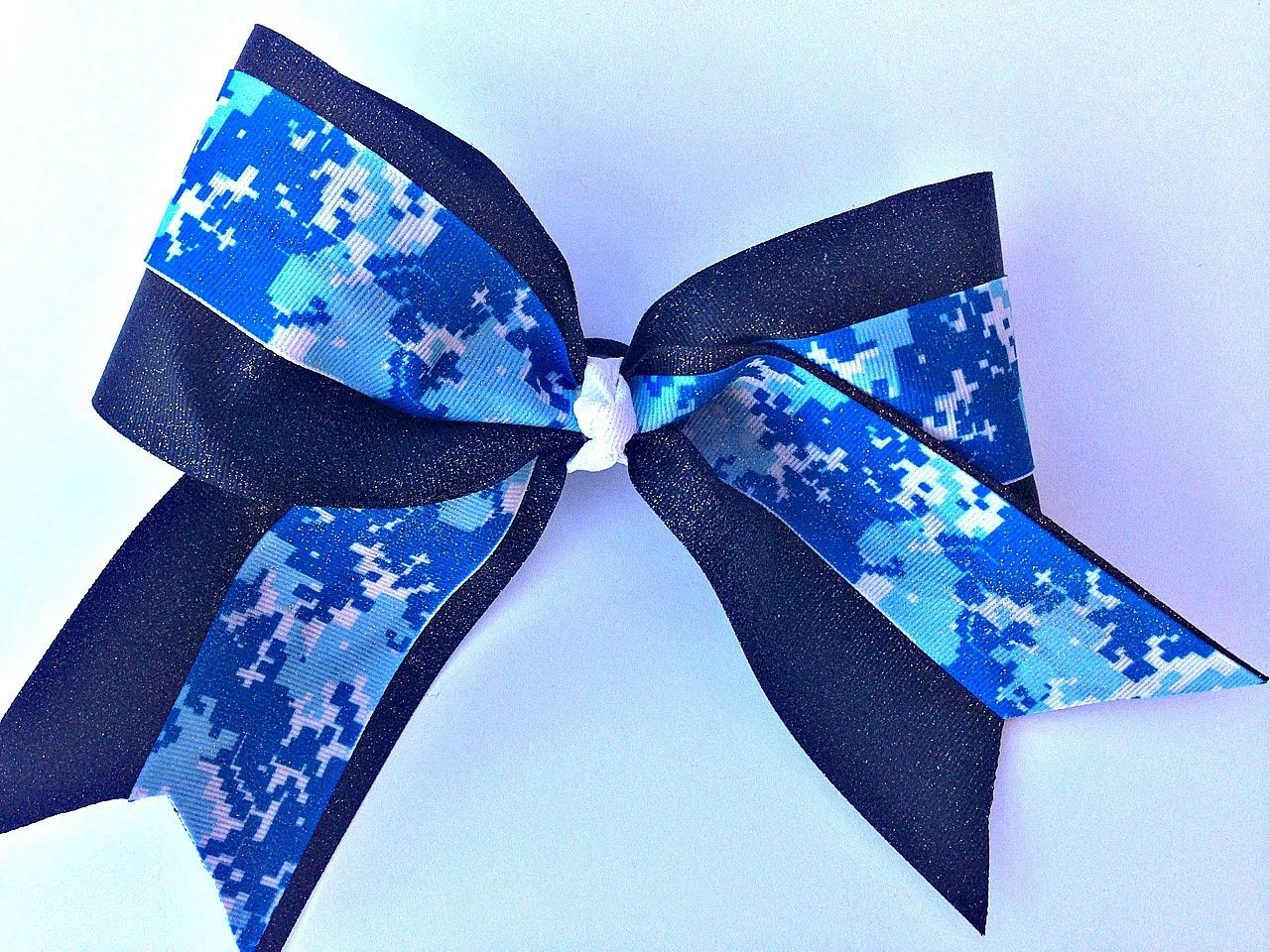 In This Video I Show You How To Make A Big Glitter Cheer Bow Without Sewing Products Used Ribbon Fabri Tac Glue Tulip Spray Paint