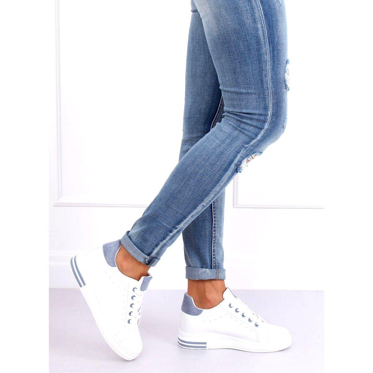 Trampki Damskie Biale L8035 Blue In 2020 Fashion Skinny Jeans Skinny