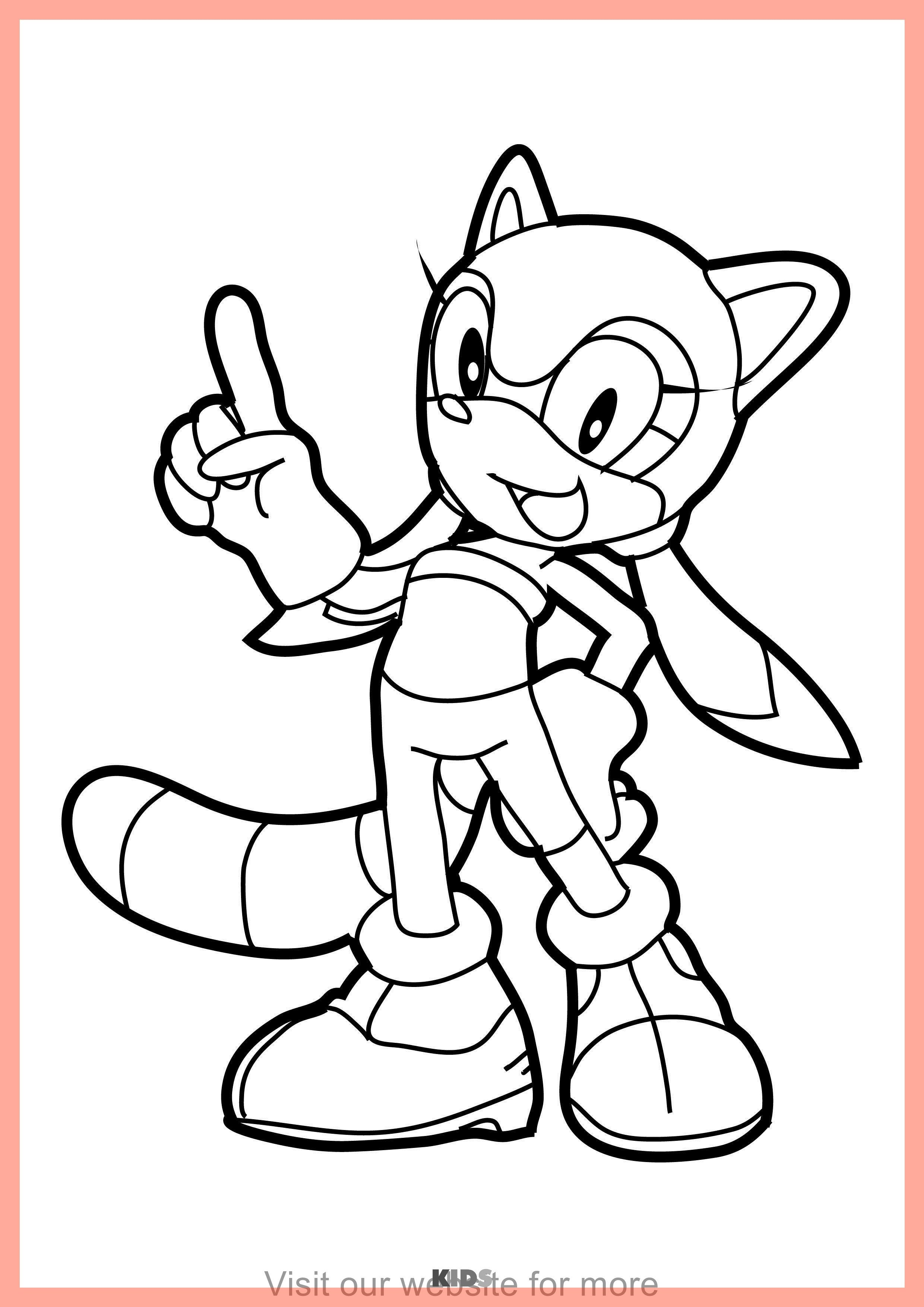 Sonic The Hedgehog And Tails Coloring Pages - PeepsBurgh