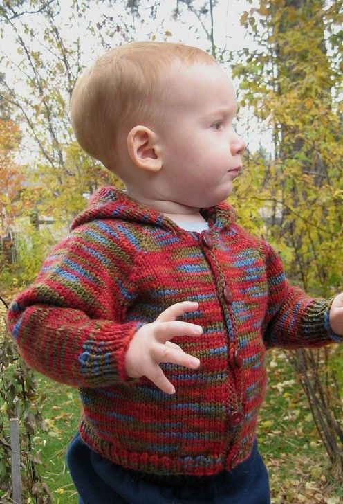 Knitting Pure And Simple Diane Soucy Babies Neckdown Cardigan