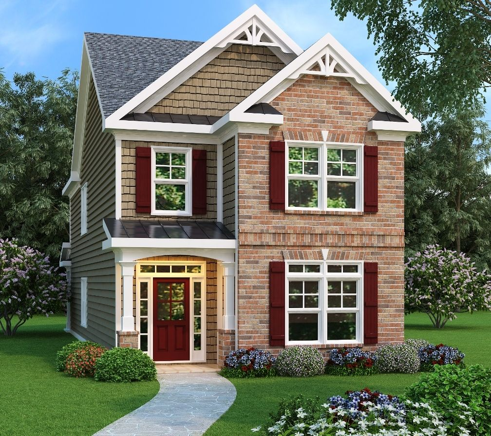 Three Bed Home Plan Designed For A Narrow Lot