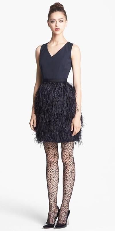 Feather Skirt Radiant Faille Dress, $497.49 sale ($995 retail) @ Nordstrom