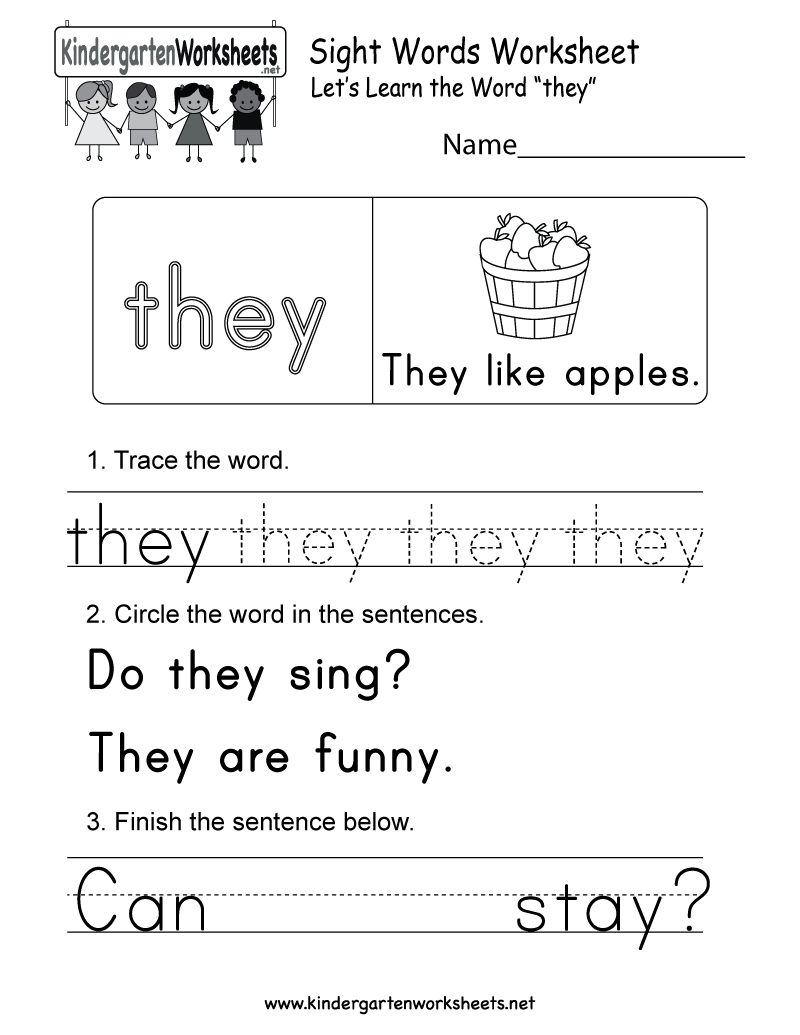 This Is A Sight Word Worksheet For They This Would Be A Great Worksheet For Kindergar Sight Word Worksheets Kindergarten Worksheets Sight Words Tricky Words [ 1035 x 800 Pixel ]