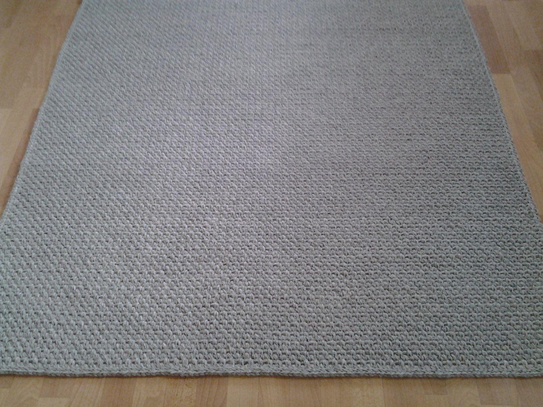 Crochet Square Rug Rectangular 150 Cm Rugs Area Floor Large Handmade Carpet Wool By Zkadesign On Etsy