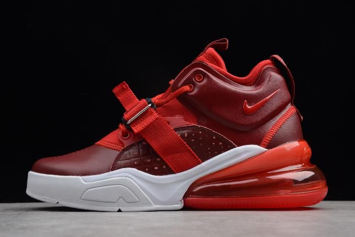 """47747f0f236b68 New Nike Air Force 270 """"Red Croc"""" Team Red Gym Red White AH6772-600 ..."""