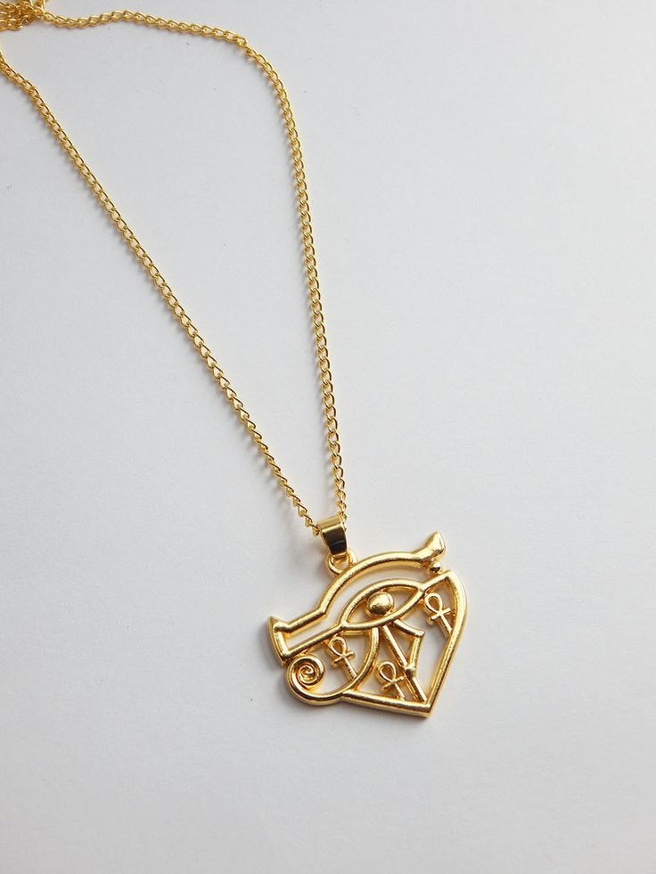 New to TheBlackerTheBerry on Etsy Gold Egyptian Ankh Pendant